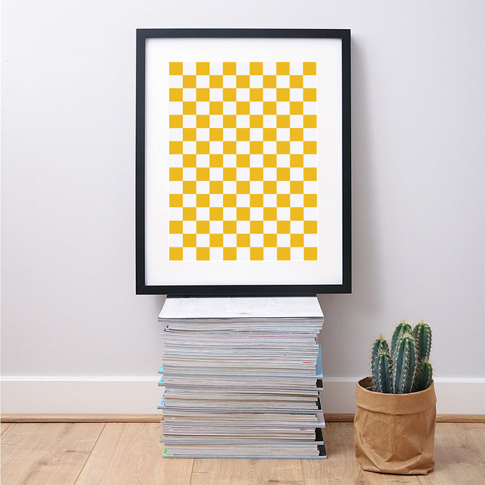 Checkered Geometric Art Print