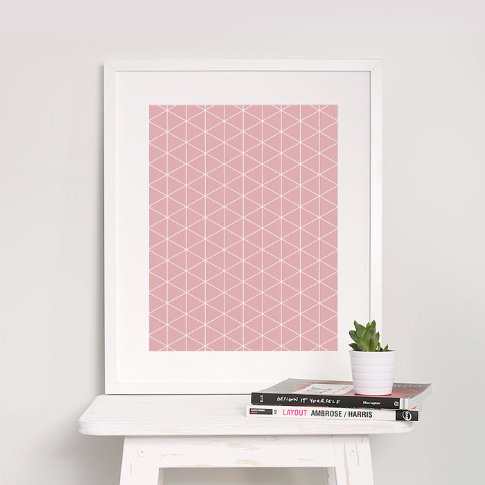Diamond Triangle Geometric Art Print