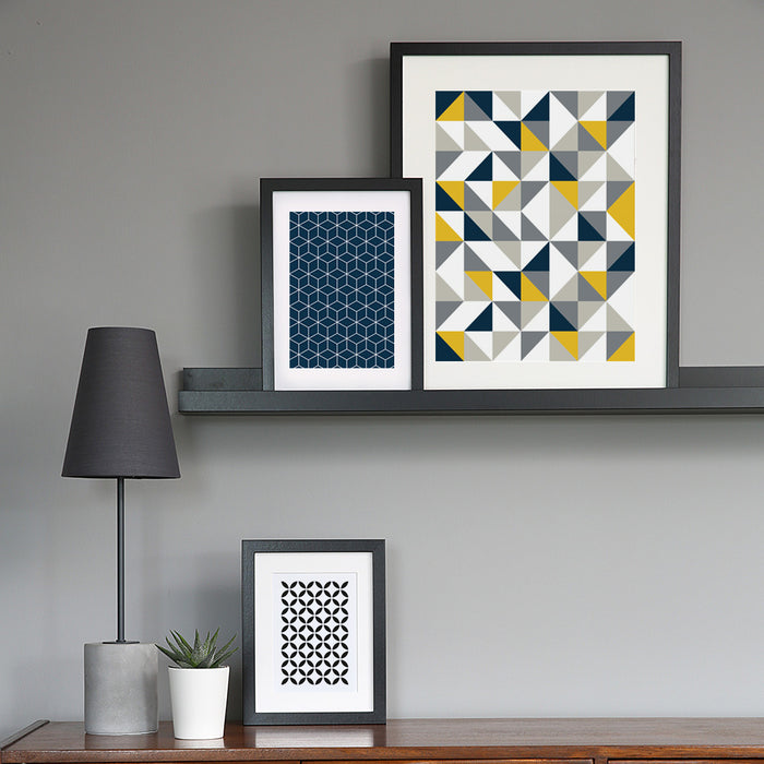 Multi Triangle Geometric Art Print
