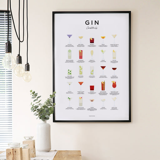 Gin Cocktails Poster