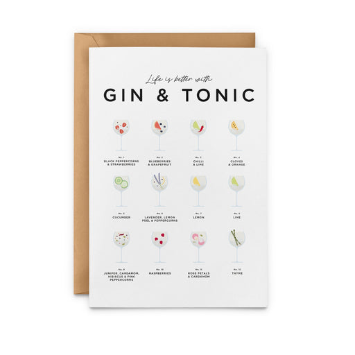 Life Is Better With Gin and Tonic Greeting Card
