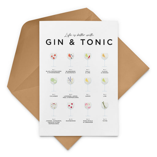 Gin and Tonic Garnish Recipe Greeting Card