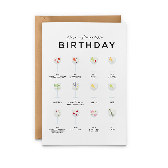 Have A Gincredible Birthday Card – Gin Birthday Card