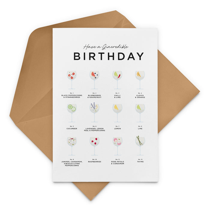 Have A Gincredible Birthday Card – Gin and Tonic Birthday Card