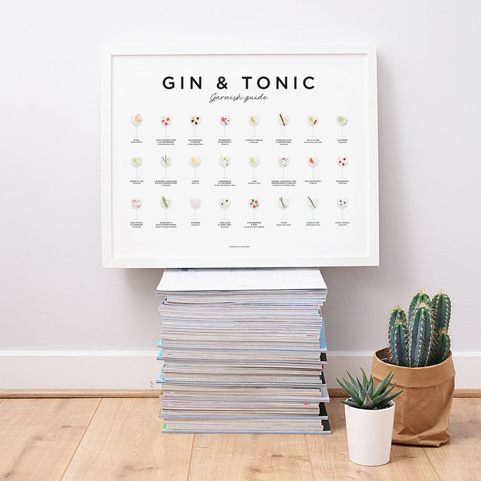 Gin and tonic garnish guide print