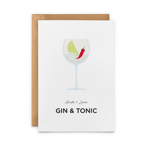 Chilli & Lime Gin & Tonic Greeting Card