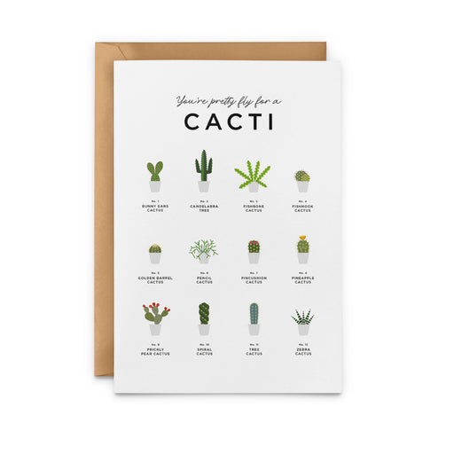You're Pretty Fly For A Cacti Greeting Card