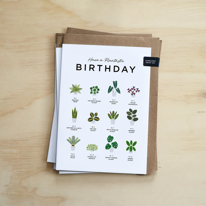 Houseplants Lover Birthday Card