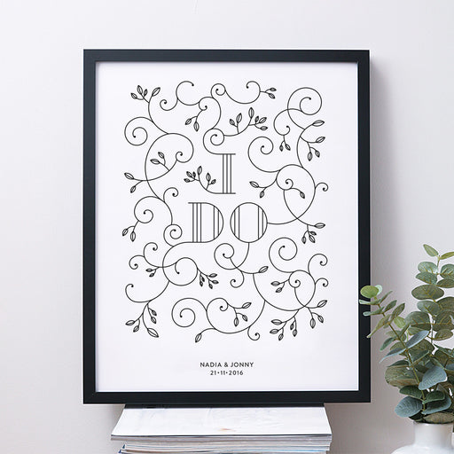 I Do Personalised Wedding Print