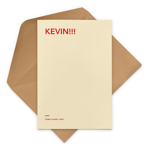 'Kevin!!!' Home Alone movie Christmas Greetings Card