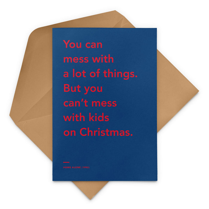 'You Can't Mess With Kids On Christmas' Home Alone 2: Lost in New York movie Christmas Greetings Card