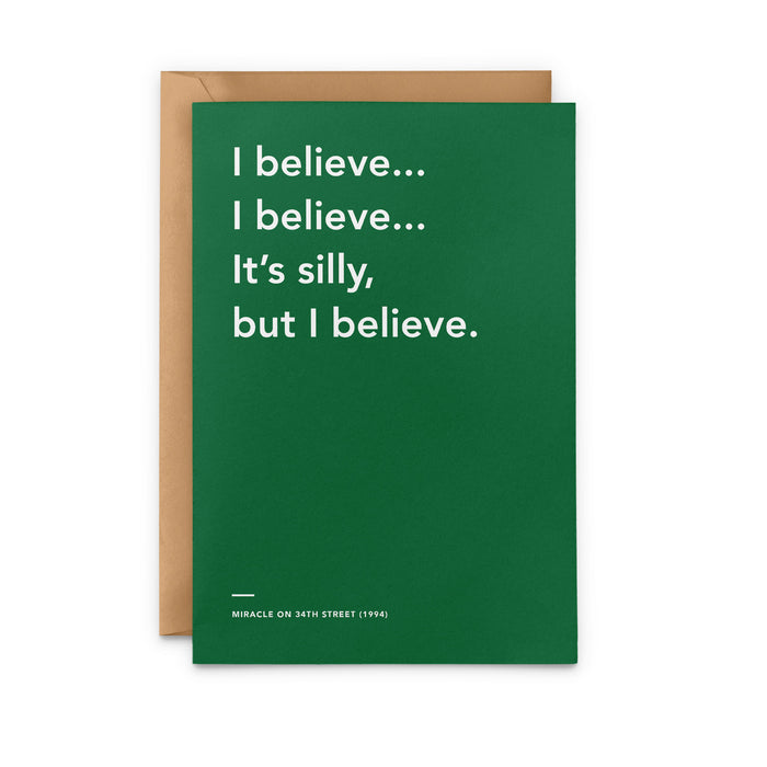 'I Believe... I Believe...' Miracle on 34th Street Christmas Card