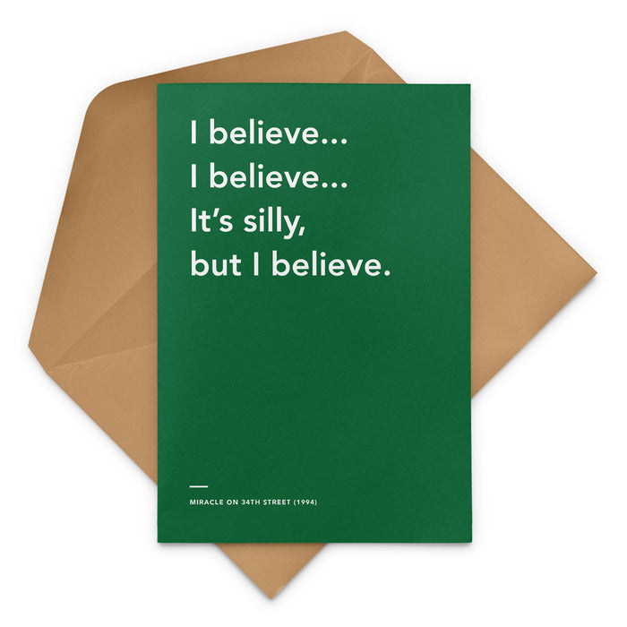 'I Believe... I Believe...' Miracle on 34th Street Christmas Greeting Card