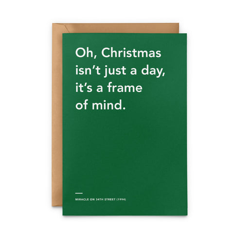 'Christmas Isn't Just A Day, It's A Frame Of Mind' Miracle on 34th Street Christmas Card
