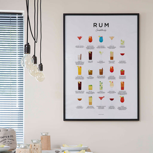 Rum Cocktails Art Print