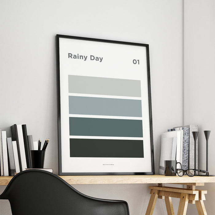 Rainy Day Art Print – 01 Sky Colour Series