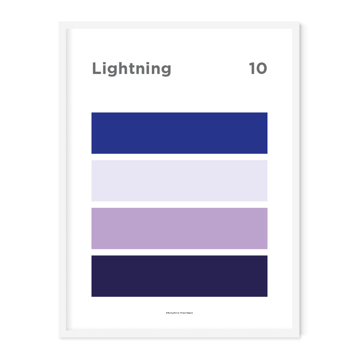Lightning Art Print – 10 Sky Colour Series