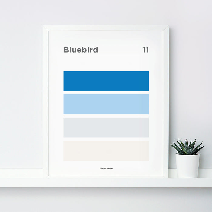 Bluebird Art Print – 11 Sky Colour Series