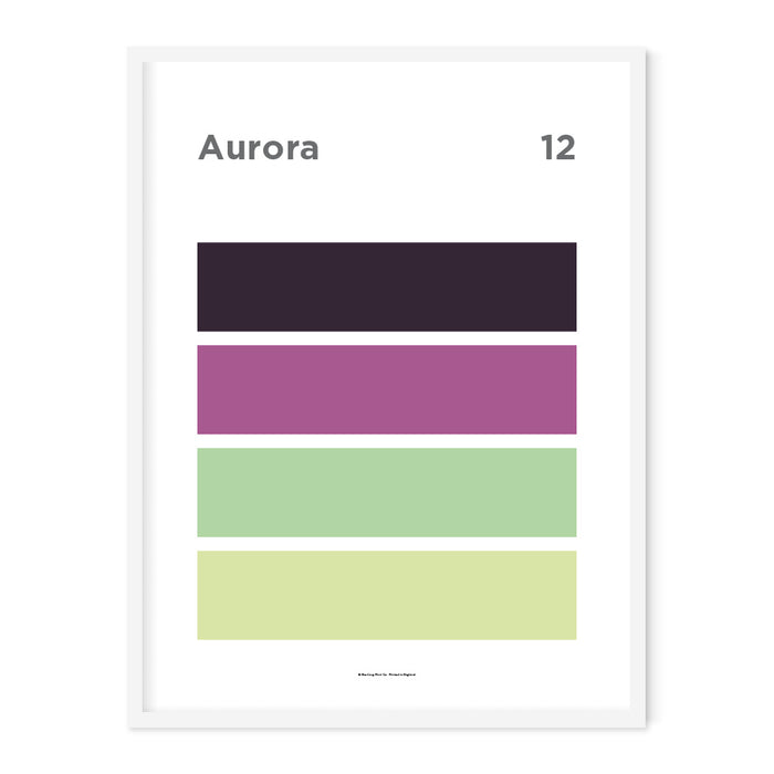 Aurora Art Print – 12 Sky Colour Series