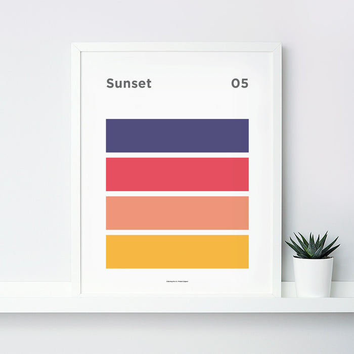 Sunset Art Print – 05 Sky Colour Series