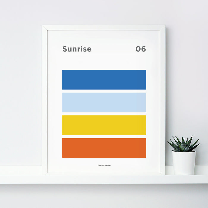Sunrise Art Print – 06 Sky Colour Series