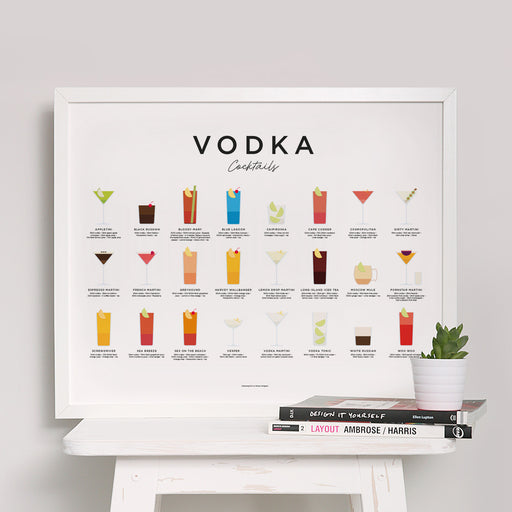 Vodka Cocktails art print (landscape)