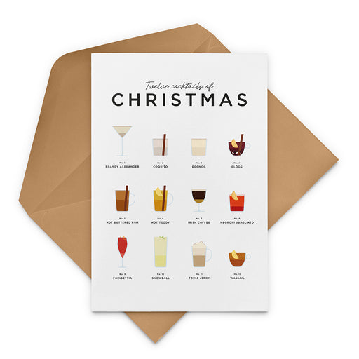 Personalised Christmas Cocktails Christmas card