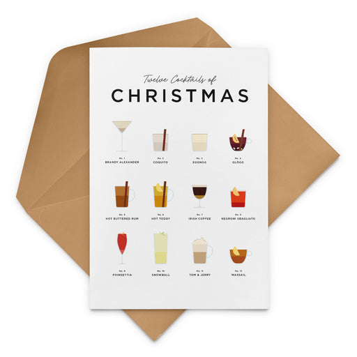 Twelve Cocktails of Christmas greetings card