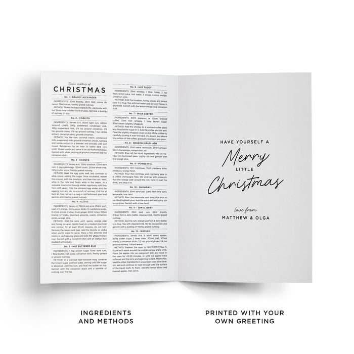 Personalised Christmas Cocktails Christmas greeting card