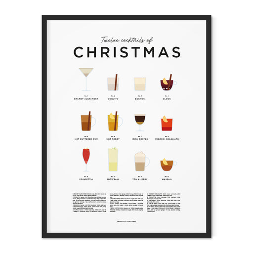 Christmas Cocktails print