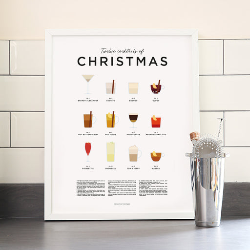 Christmas Cocktails art print