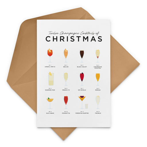 Champagne Cocktails Christmas Card