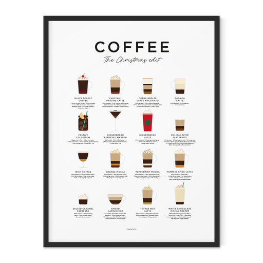 Christmas Coffee Art Print with 16 Christmas Coffee Recipes