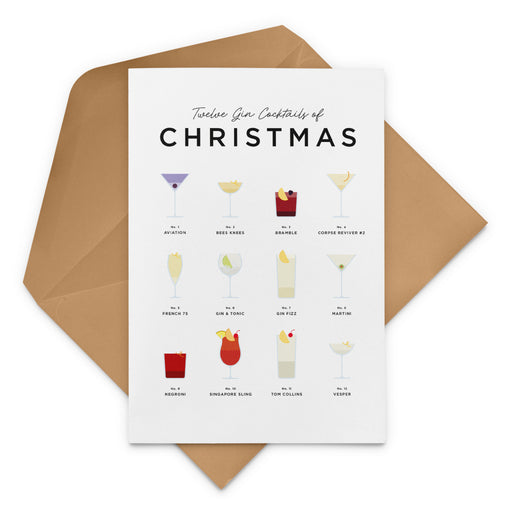 Twleve Gin Cocktails Of Christmas – Christmas Card
