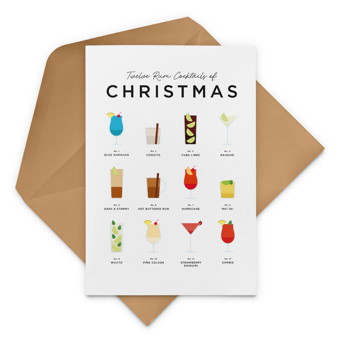 Twelve Rum Cocktails Of Christmas – Christmas Card