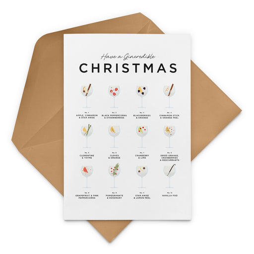 Have A Gincredible Christmas Card – Gin Christmas Card