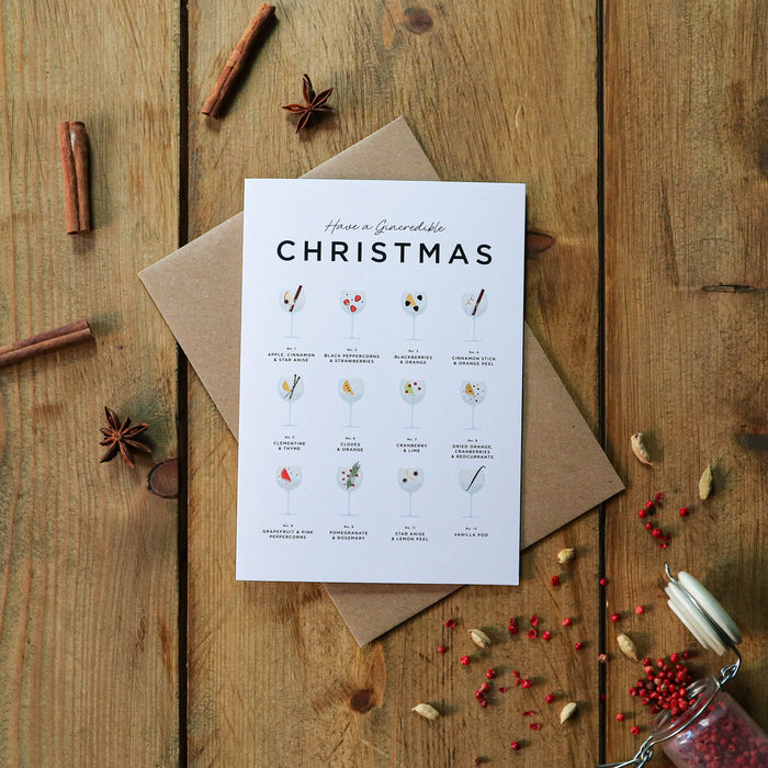 Have A Gincredible Christmas Card – Gin Christmas Cards