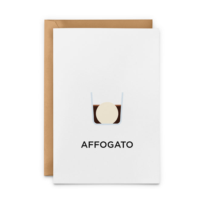 Affogato Coffee Greeting Card