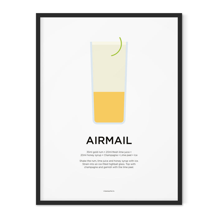 Airmail cocktail art print