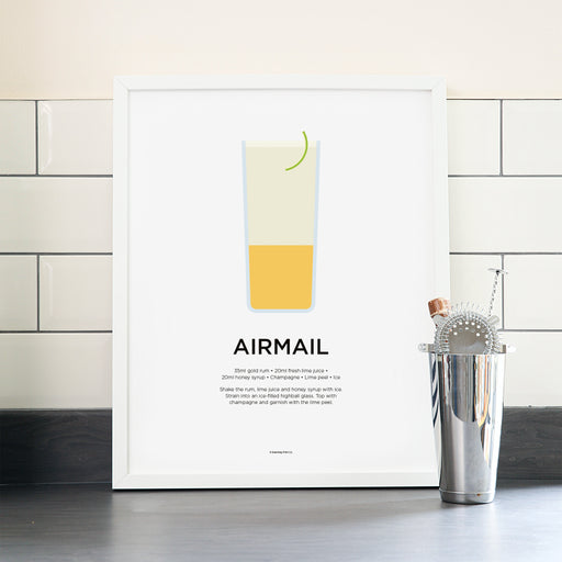 Airmail cocktail poster
