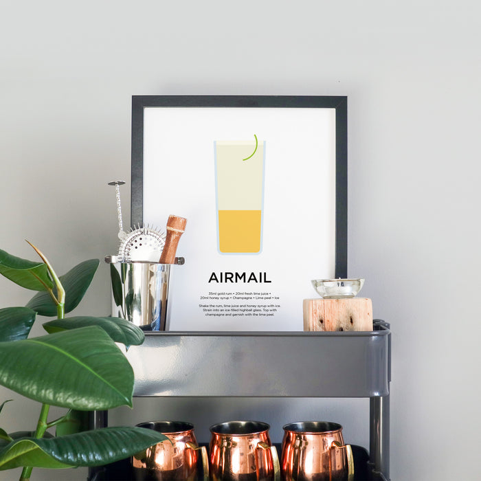 Airmail cocktail print