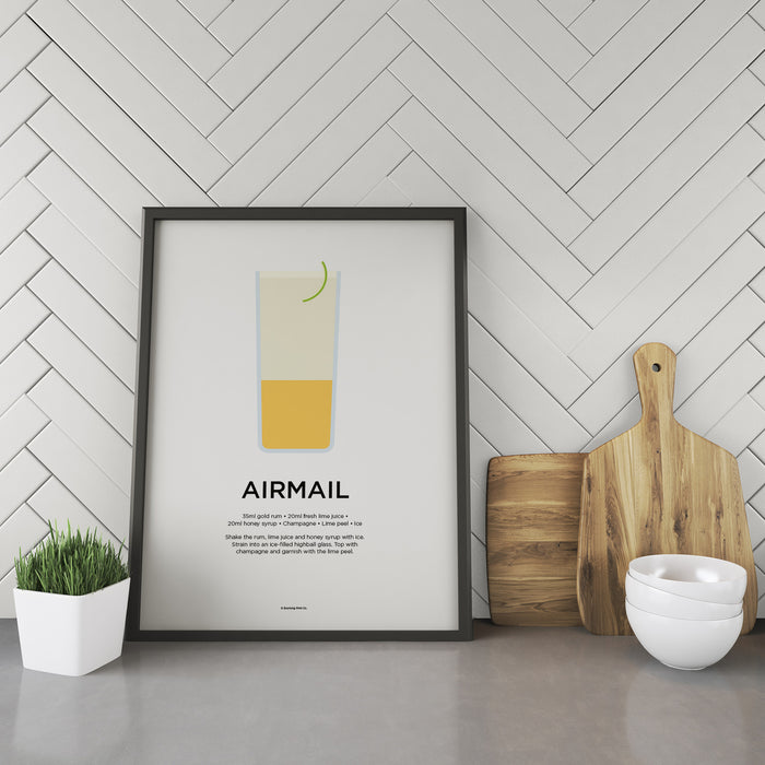 Airmail cocktail recipe print