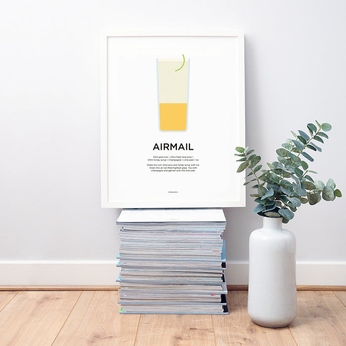 Airmail cocktail wall art