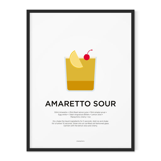 Amaretto Sour cocktail art print