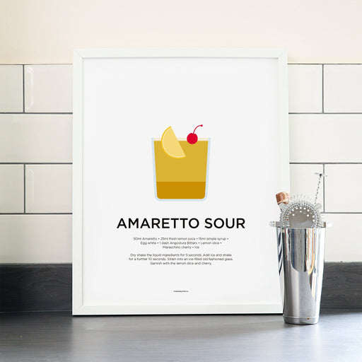 Amaretto Sour cocktail poster