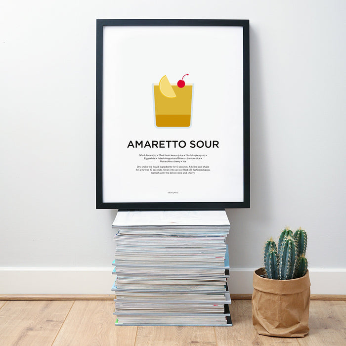 Amaretto Sour cocktail wall art