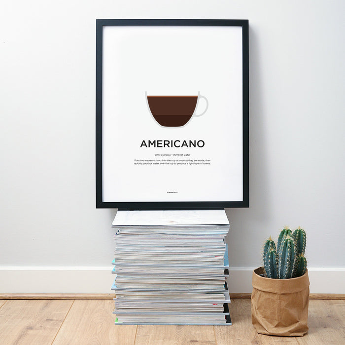 Americano coffee wall art