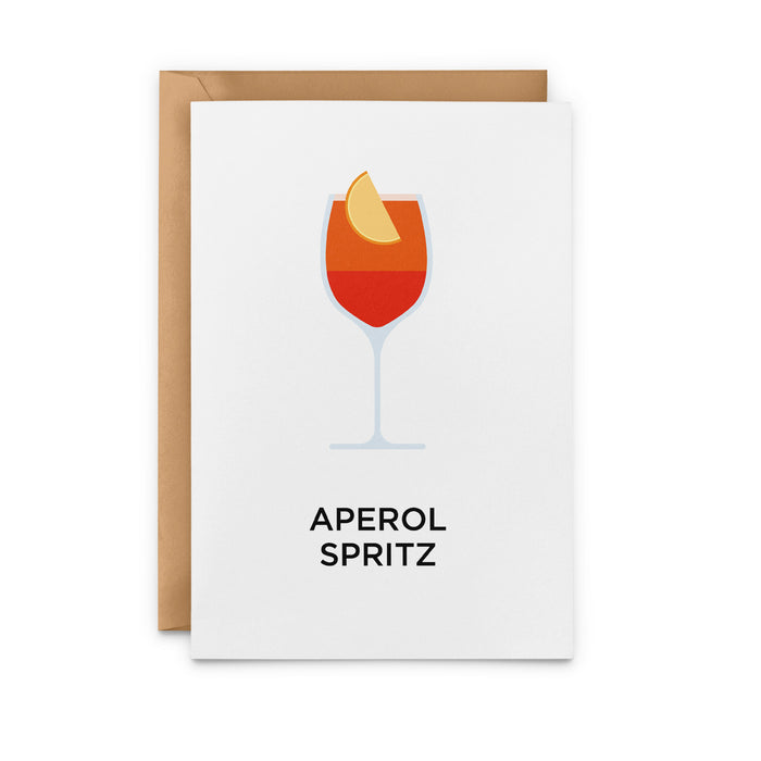 Aperol Spritz cocktail greetings card