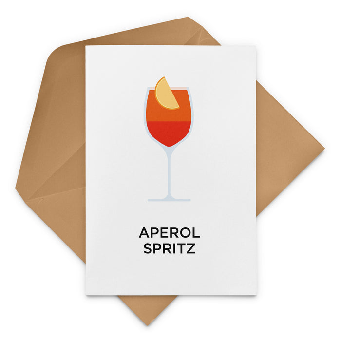 Aperol Spritz cocktail birthday card