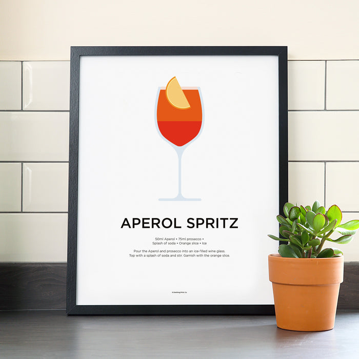 Aperol Spritz cocktail poster